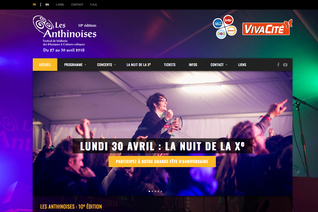 Webdesign site Les Anthinoises